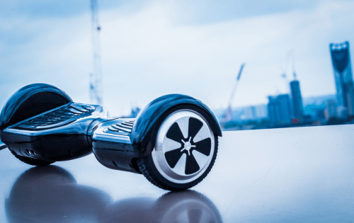 Typical size and weight of a hoverboard